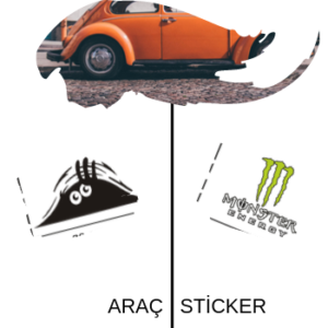araç sticker